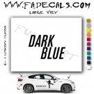 Dark Blue Movie Logo Decal Sticker