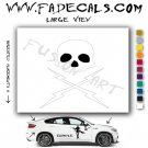Death proof Skull and Bolts Movie Logo Decal Sticker