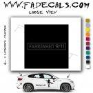 Fahrenheit 911 Movie Logo Decal Sticker