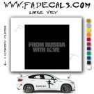 From Russia With Love Movie Logo Decal Sticker