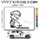 Calvin Pee on Honda Cartoon Style#2 Decal Sticker