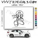 Mario Running Video Game Logo Decal Sticker