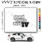 Grand Theft Auto 4 Video Game Logo Decal Sticker