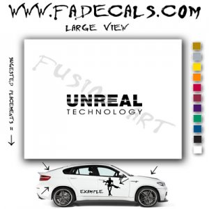 Unreal Technology Video Game  Logo Decal Sticker