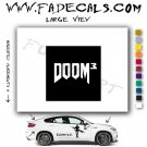 Doom 3 Video Game  Logo Decal Sticker