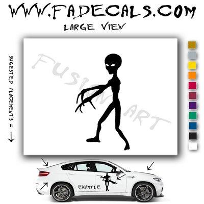 Alien ET Extra-Terrestrial S.E.T.I. Area 51 Silhouettes #8 (Decal - Sticker)
