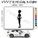 Alien ET Extra-Terrestrial S.E.T.I. Area 51 Silhouettes #9 (Decal - Sticker)