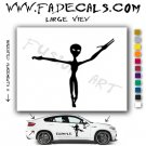 Alien ET Extra-Terrestrial S.E.T.I. Area 51 Silhouettes #13 (Decal - Sticker)