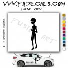 Alien ET Extra-Terrestrial S.E.T.I. Area 51 Silhouettes #16 (Decal - Sticker)