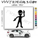 Alien ET Extra-Terrestrial S.E.T.I. Area 51 Silhouettes #32 (Decal - Sticker)