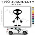 Alien ET Extra-Terrestrial S.E.T.I. Area 51 Silhouettes #34 (Decal - Sticker)