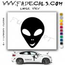 Alien ET Extra-Terrestrial S.E.T.I. Area 51 Silhouettes #35 (Decal - Sticker)
