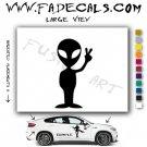 Alien ET Extra-Terrestrial S.E.T.I. Area 51 Silhouettes #39 (Decal - Sticker)