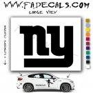 New York Giants #2 Football (Decal - Sticker)