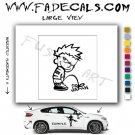 Calvin Pee on Japan Decal Sticker