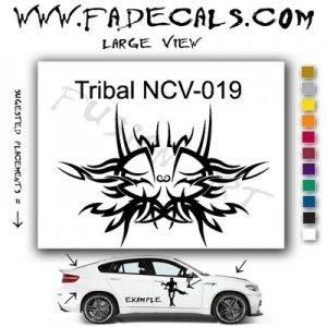 Tribal Tattoo Element Style 19 Logo Decal Sticker