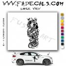 Oriental Dragon Style 2 Vinyl  Logo Decal Sticker