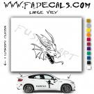 Oriental Dragon Style 7 Vinyl  Logo Decal Sticker