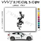 Oriental Dragon Style 10 Vinyl Logo Decal Sticker