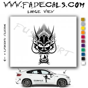 Oriental Dragon Style 12 Vinyl Logo Decal Sticker