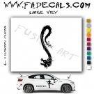 Oriental Dragon Style 14 Vinyl Logo Decal Sticker