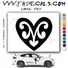 Valentines Day Heart 3 Vinyl Logo Decal Sticker