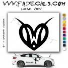 Valentines Day Heart 7 Vinyl Logo Decal Sticker