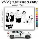 "Family Guy Vinyl Decal & Sticker SMALL 10"""
