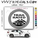 Trail Rated Aftermarket Logo Die Cut Vinyl Decal Sticker