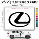 Lexus Aftermarket Logo Die Cut Vinyl Decal Sticker