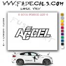 Accel Aftermarket Logo Die Cut Vinyl Decal Sticker