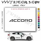 Accord Aftermarket Logo Die Cut Vinyl Decal Sticker