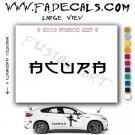 Acura Chinese Aftermarket Logo Die Cut Vinyl Decal Sticker