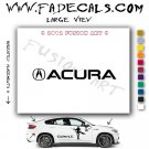 Acura Symbol Aftermarket Logo Die Cut Vinyl Decal Sticker