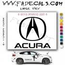 Acura 2 Aftermarket Logo Die Cut Vinyl Decal Sticker