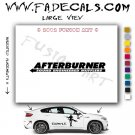 After Burner Mufflers Aftermarket Logo Die Cut Vinyl Decal Sticker