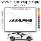 Alpine Aftermarket Logo Die Cut Vinyl Decal Sticker