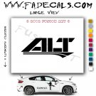 alt Aftermarket Logo Die Cut Vinyl Decal Sticker