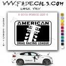 American Drag League Aftermarket Logo Die Cut Vinyl Decal Sticker