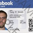 Custom Facebook Profile ID card (Template # 3820)