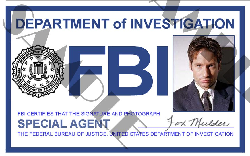 Nice Fbi Badge Template Images Gallery  Collection Of Solutions For