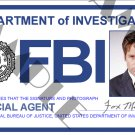 X-files Special Agent Fox Mulder ID Card (Template # X4L125)
