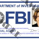 X-files Special Agent Dana Scully ID Card (Template # X4L124)