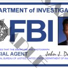 X-files Special Agent John Doggett ID Card (Template # X4L123)