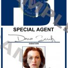X-files Special Agent Dana Scully portrait ID Card (Template # X3P345)