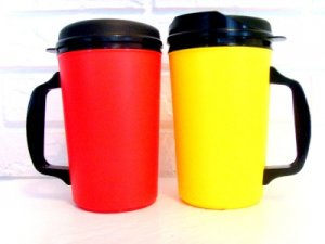 2 34 Oz Thermo Serv Insulated Travel Coffee Mugs Free