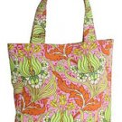Amy Butler / Kalencom - Sara Tote in Temple Tulips Tangerine, NWT