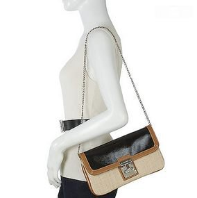 Nine West Eyes Closed Clutch in Natural / Black, NWT - MSRP $69.00