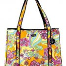 Beach Santa Monica Beach Flower Power Large Carry-All. NWT, Free Ship