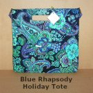 Vera Bradley 2009 Holiday Book Tote Blue Rhapsody, NWT, Free Ship